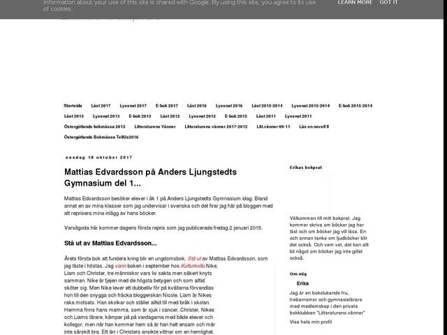 Mattias Edvardsson på Anders Ljungstedts Gymnasium del 1...