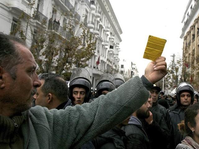 Nya protester i Tunisien –150 gripna