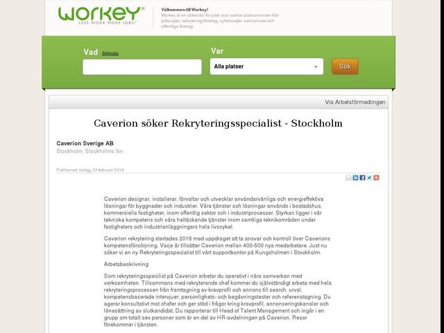 Caverion söker Rekryteringsspecialist - Stockholm