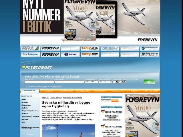 Svenska miljardärer bygger egna flygbolag