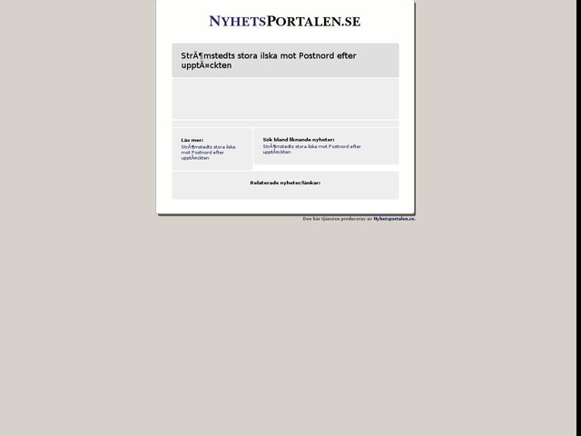 Strömstedts stora ilska mot Postnord efter upptäckten