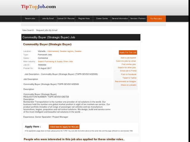 Commodity Buyer (Strategic Buyer)