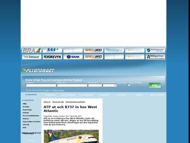 ATP ut och B737 in hos West Atlantic