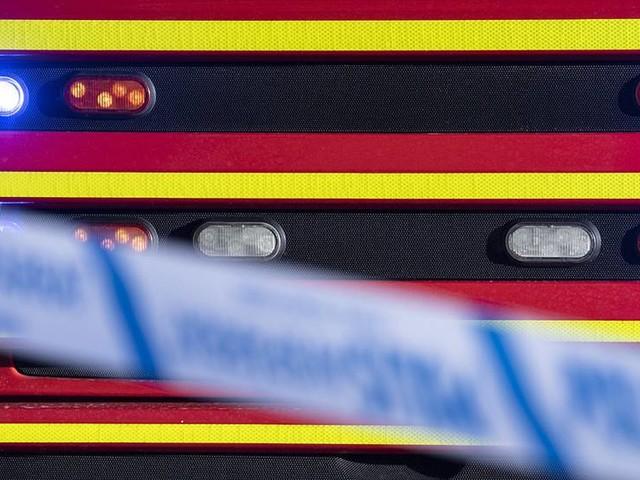 Mycket rök från industribrand i Dalarna