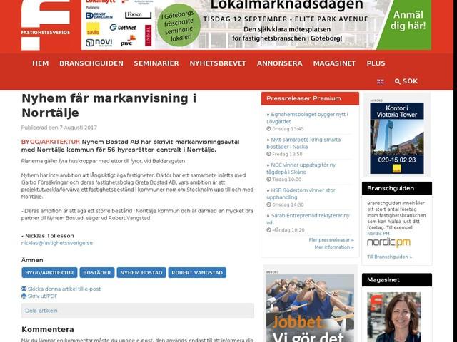 Nyhem får markanvisning i Norrtälje