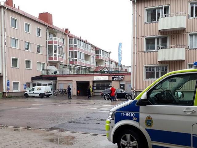 Larm om brand i centrala Luleå