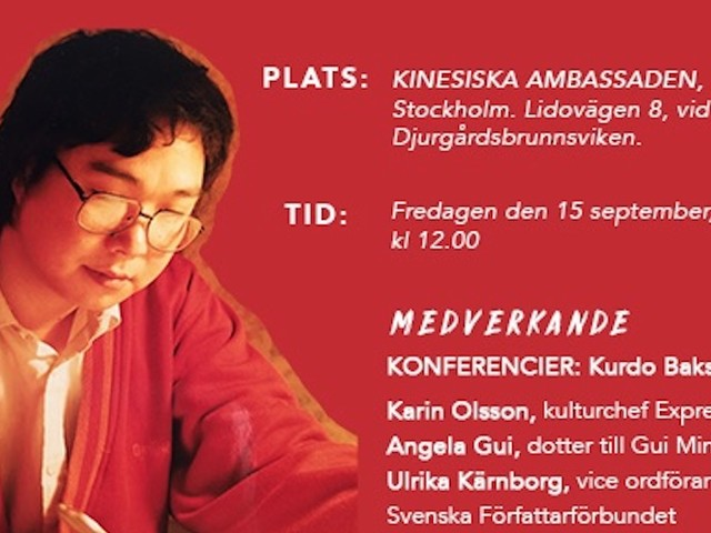Rally for Gui Minhai outside Chinese embassy in Stockholm