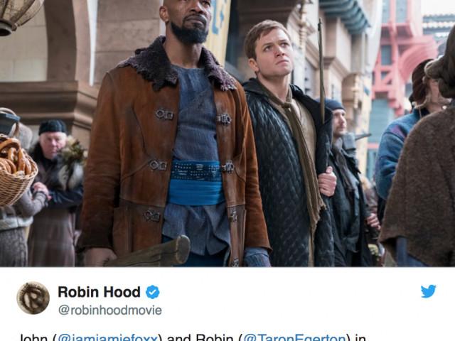 Första bilden från den nya Robin Hood-rullen