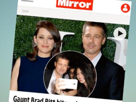 Skräckrubriker efter Brad Pitts comeback