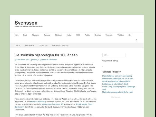 De svenska oljebolagen för 100 år sen