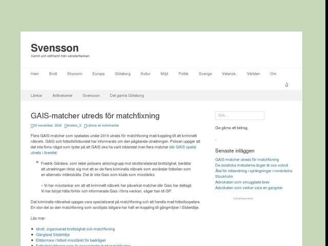 GAIS-matcher utreds för matchfixning