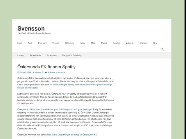 Östersunds FK är som Spotify