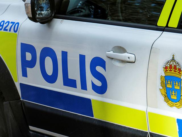 Polisen larmades till bostad – man greps