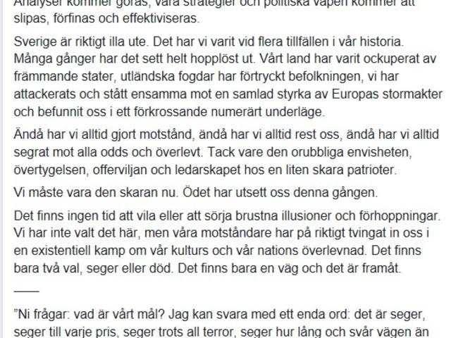 Om Mattias Karlsson (Sd) anser vi är i krig, vilka är vi i krig mot?