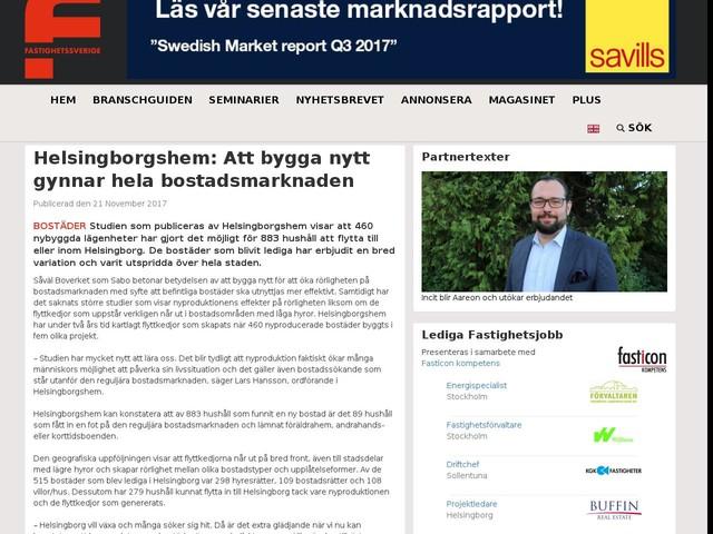Helsingborgshem: Att bygga nytt gynnar hela bostadsmarknaden