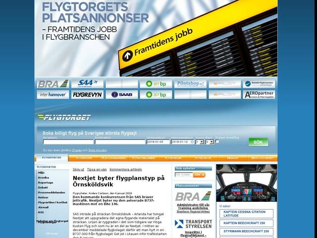 Nextjet byter flygplanstyp på Örnsköldsvik