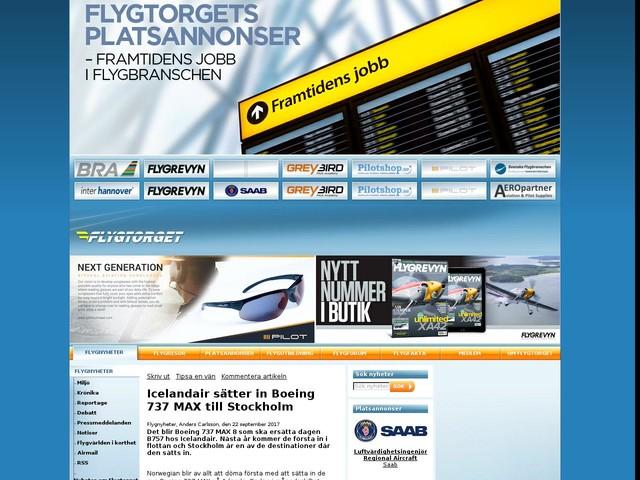 Icelandair sätter in Boeing 737 MAX till Stockholm