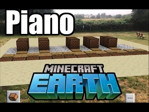 Ett stort piano i Minecraft Earth