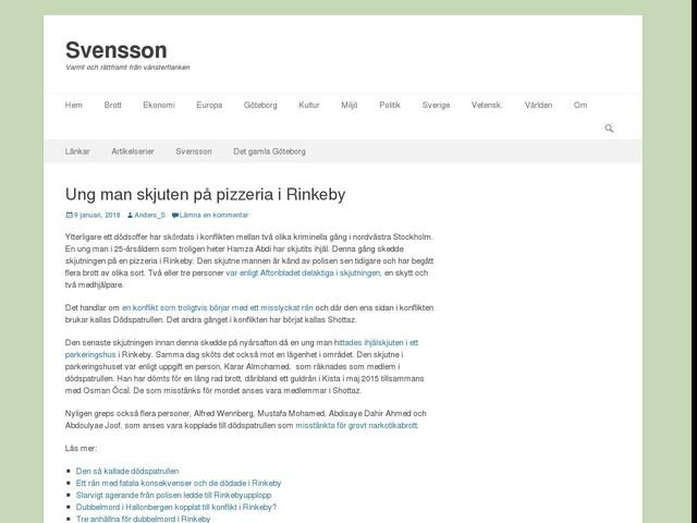Ung man skjuten på pizzeria i Rinkeby