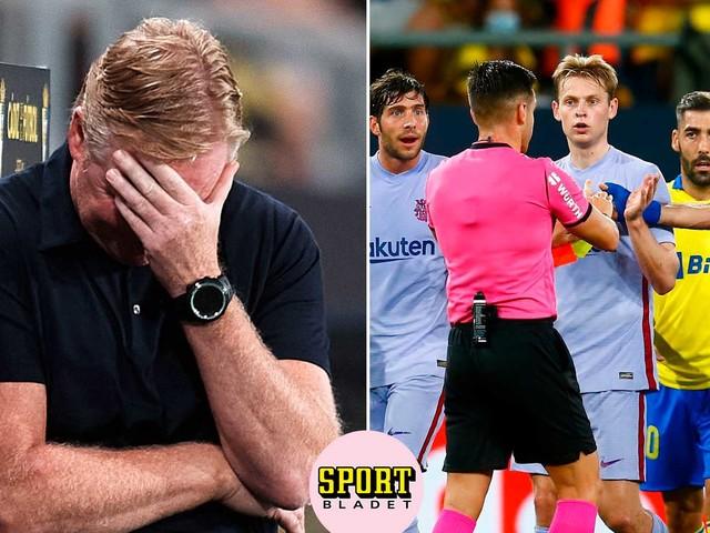 Barça i fritt fall – Koeman utvisad