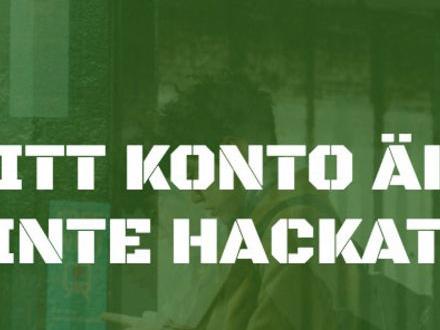 Kolla om ditt konto är på drift med Hackad.se