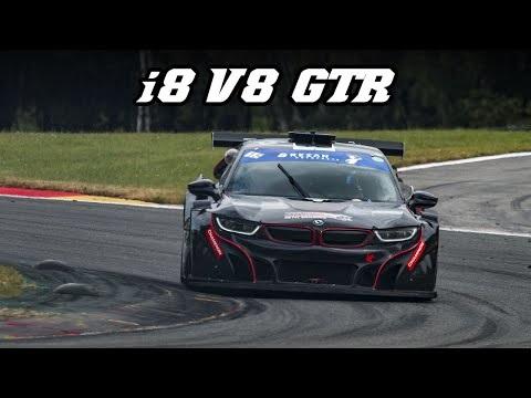 Racerversionen av BMW i8 låter riktigt vass