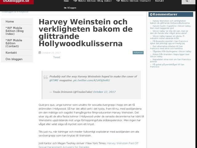 Harvey Weinstein och verkligheten bakom de glittrande Hollywoodkulisserna