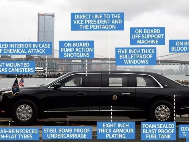 Trump slipper Obamas gamla tjänstebil