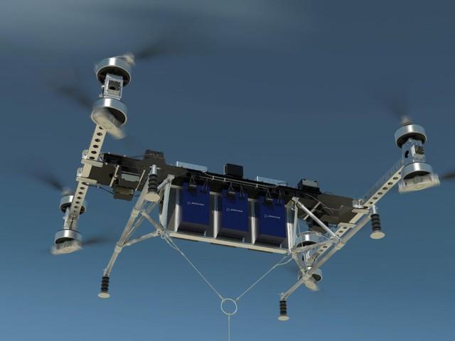 Boeing har byggt en drönare som kan lyfta över 200 kilo