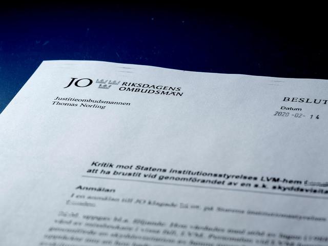 Behandlingshem missade livsfarligt snöre –kritiseras av JO