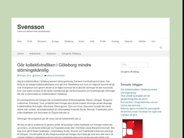 Gör kollektivtrafiken i Göteborg mindre störningskänslig