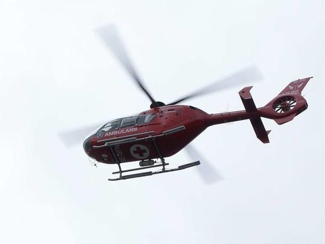 Norsk helikopter räddade man i fjällnöd