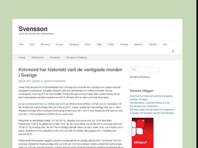 Knivmord har historiskt varit de vanligaste morden i Sverige