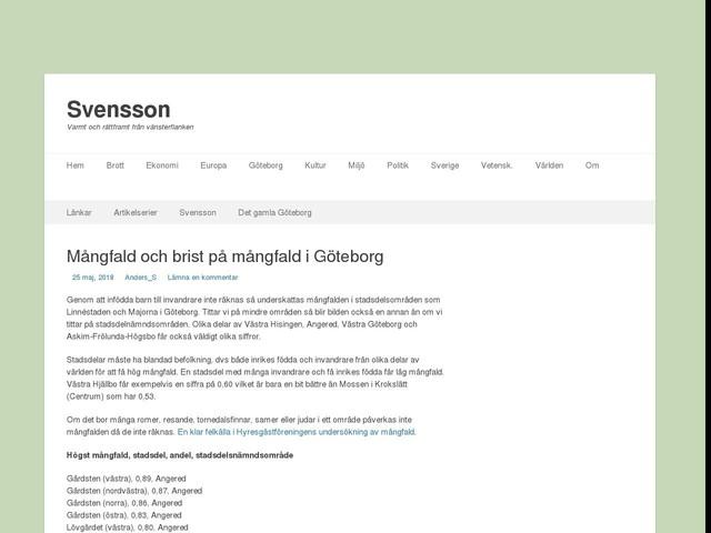 Mångfald och brist på mångfald i Göteborg