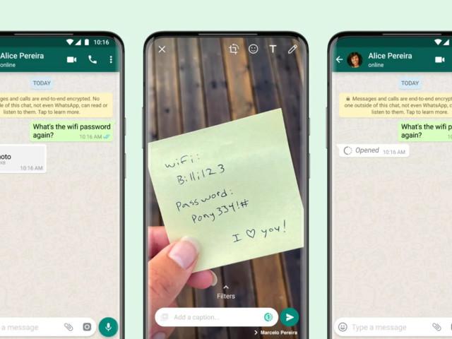 WhatsApp kan nu skicka engångsbilder