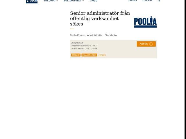 Senior administratör från offentlig verksamhet sökes