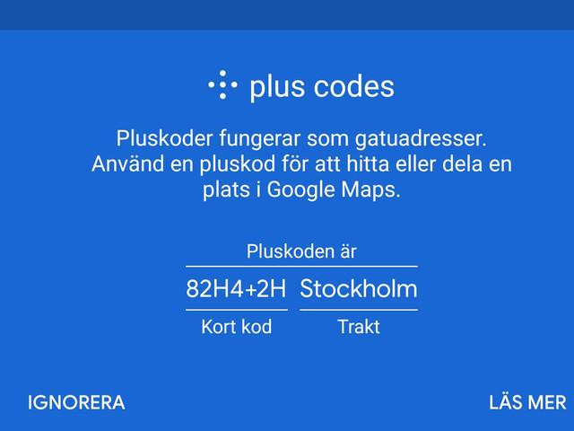 Google Maps gör det enklare att dela plats som saknar adress