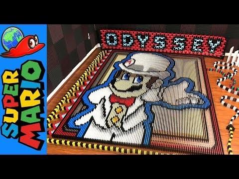 Releasen av Super Mario Odyssey firas med lite dominokreation