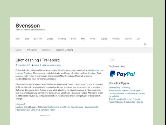 Skottlossning i Trelleborg