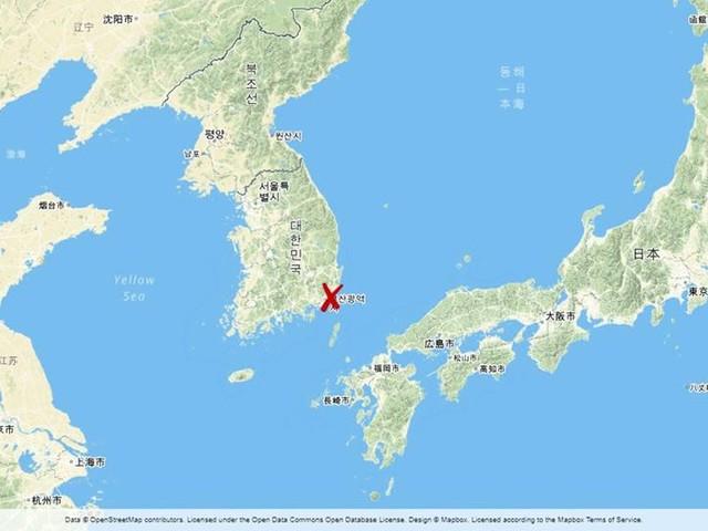 Närmare 20 skadade i fartygsbrand i Sydkorea
