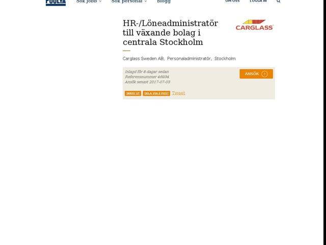 HR-/Löneadministratör till växande bolag i centrala Stockholm