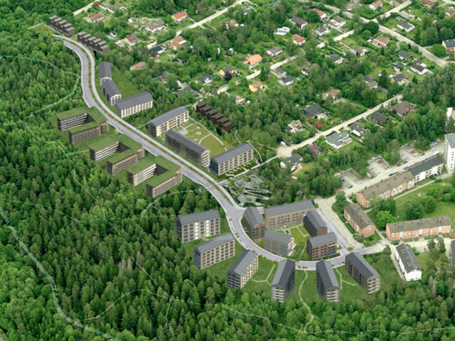 Nya bostäder till Tumba Skog