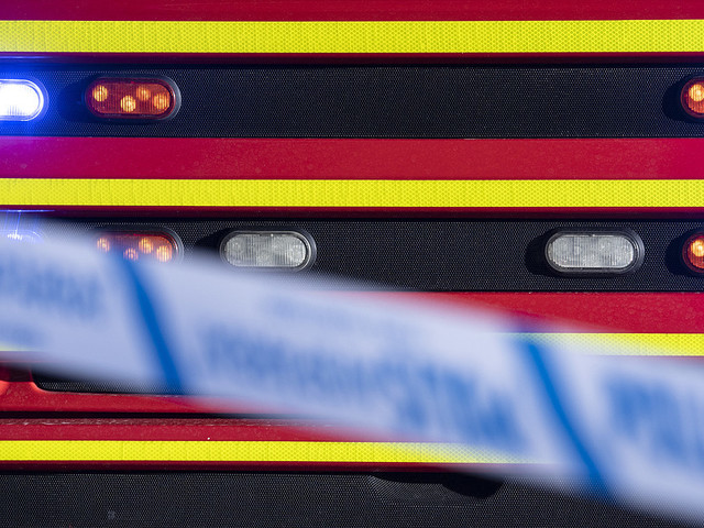 Bilar i brand i Göteborg