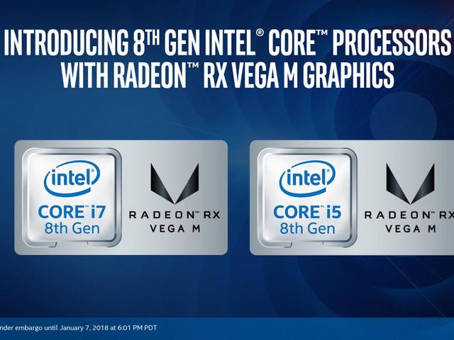 Intel Core i7-8705G med AMD Radeon RXVega-grafik prestandatestas