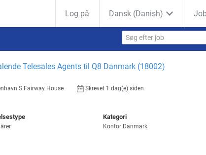 Dansktalende Telesales Agents, Q8 Danmark A/S