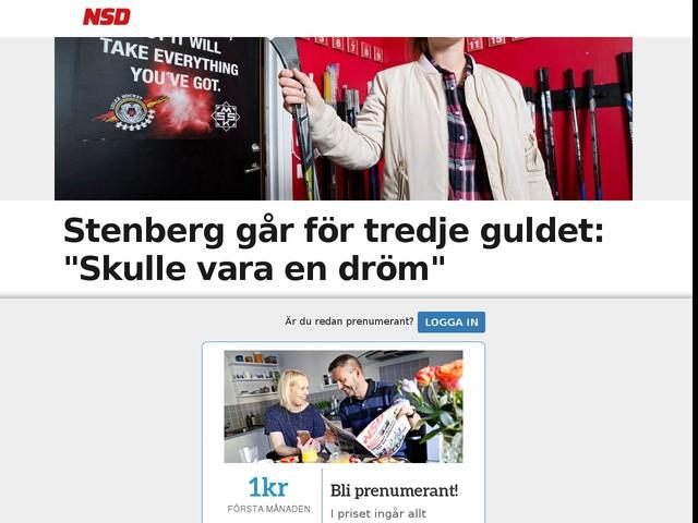 """Stenberg går för tredje guldet: """"Skulle vara en dröm"""""""