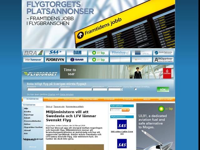 Miljöministern vill att Swedavia och LFV lämnar Svenskt Flyg