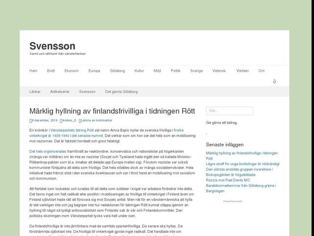 Märklig hyllning av finlandsfrivilliga i tidningen Rött