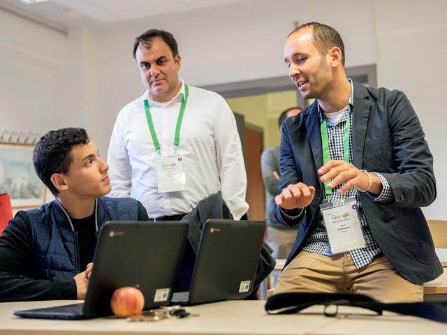 200 Googleanställda besökte Oxievångsskolan
