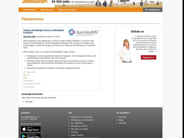 Clinical Lead Manager, home- or office-based in Nordics, Jobg8